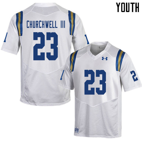 Youth #23 Kenny Churchwell III UCLA Bruins College Football Jerseys Sale-White