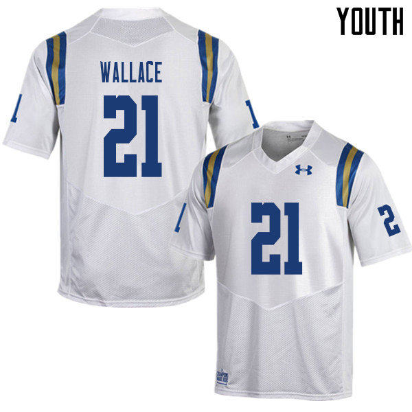 Youth #21 Quentin Wallace UCLA Bruins College Football Jerseys Sale-White