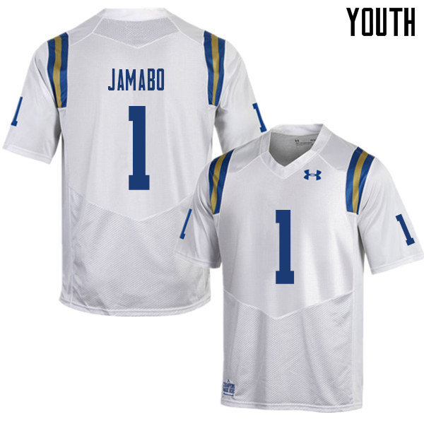 Youth #1 Soso Jamabo UCLA Bruins College Football Jerseys Sale-White