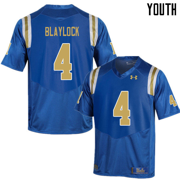 Youth #4 Stephan Blaylock UCLA Bruins College Football Jerseys Sale-Blue