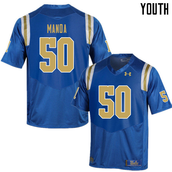 Youth #50 Tyler Manoa UCLA Bruins College Football Jerseys Sale-Blue