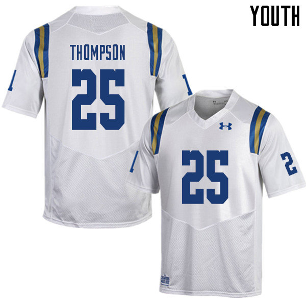 Youth #25 Tyree Thompson UCLA Bruins College Football Jerseys Sale-White