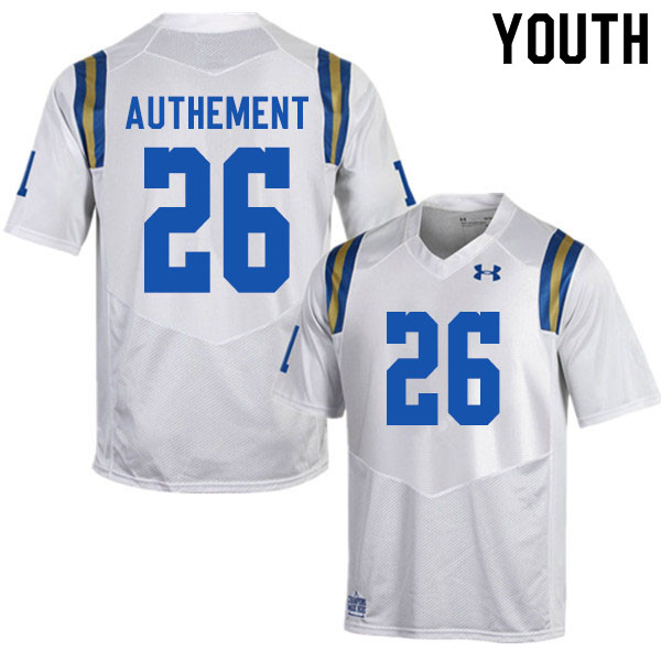 Youth #26 Ashton Authement UCLA Bruins College Football Jerseys Sale-White