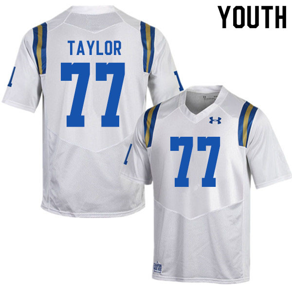 Youth #77 Beau Taylor UCLA Bruins College Football Jerseys Sale-White