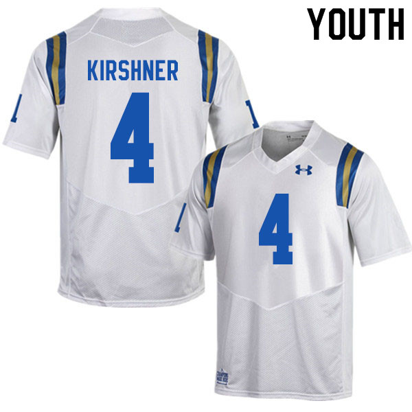 Youth #4 Blake Kirshner UCLA Bruins College Football Jerseys Sale-White