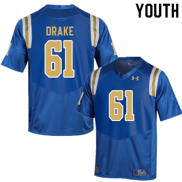 Youth #61 Carson Drake UCLA Bruins College Football Jerseys Sale-Blue