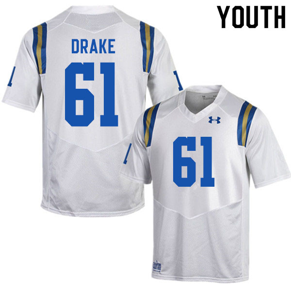 Youth #61 Carson Drake UCLA Bruins College Football Jerseys Sale-White