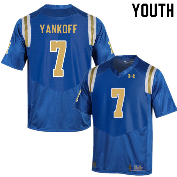 Youth #7 Colson Yankoff UCLA Bruins College Football Jerseys Sale-Blue