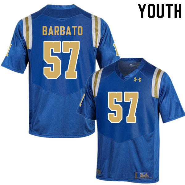 Youth #57 Connor Barbato UCLA Bruins College Football Jerseys Sale-Blue