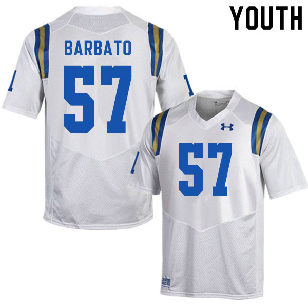 Youth #57 Connor Barbato UCLA Bruins College Football Jerseys Sale-White