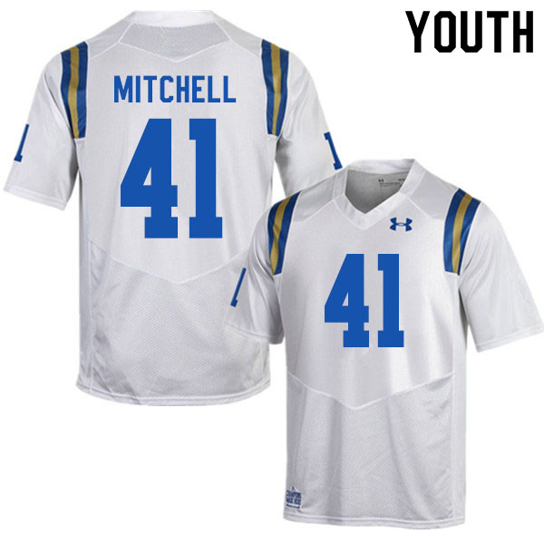 Youth #41 Dusty Mitchell UCLA Bruins College Football Jerseys Sale-White