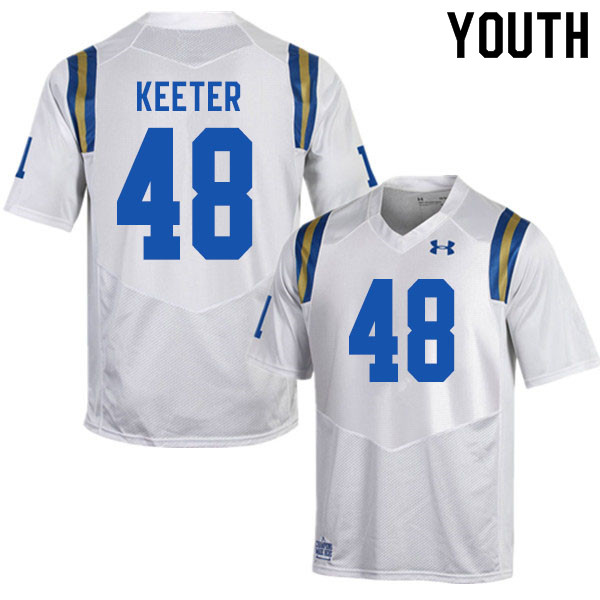 Youth #48 Noah Keeter UCLA Bruins College Football Jerseys Sale-White