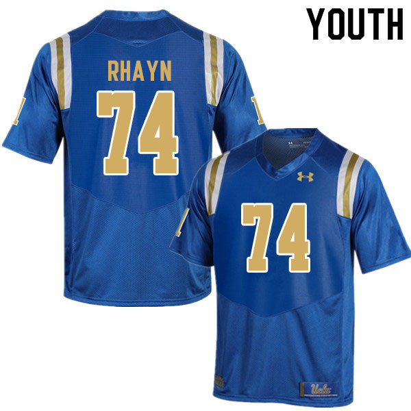 Youth #74 Sean Rhayn UCLA Bruins College Football Jerseys Sale-Blue