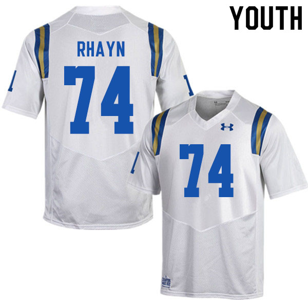 Youth #74 Sean Rhayn UCLA Bruins College Football Jerseys Sale-White