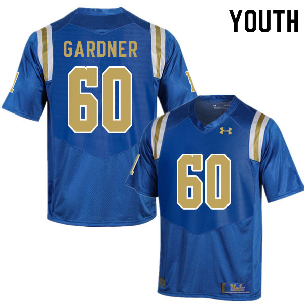 Youth #60 Beau Gardner UCLA Bruins College Football Jerseys Sale-Blue