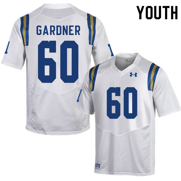 Youth #60 Beau Gardner UCLA Bruins College Football Jerseys Sale-White