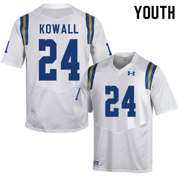 Youth #24 Brian Kowall UCLA Bruins College Football Jerseys Sale-White