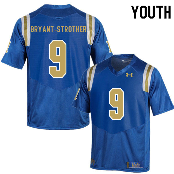 Youth #9 Choe Bryant-Strother UCLA Bruins College Football Jerseys Sale-Blue