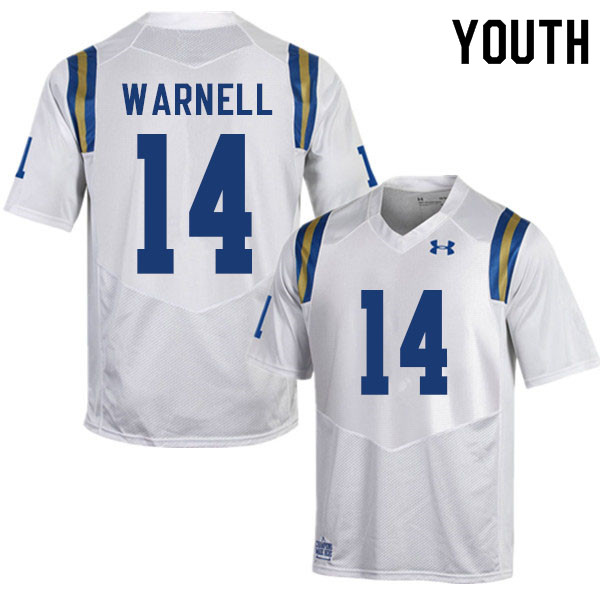 Youth #14 DJ Warnell UCLA Bruins College Football Jerseys Sale-White