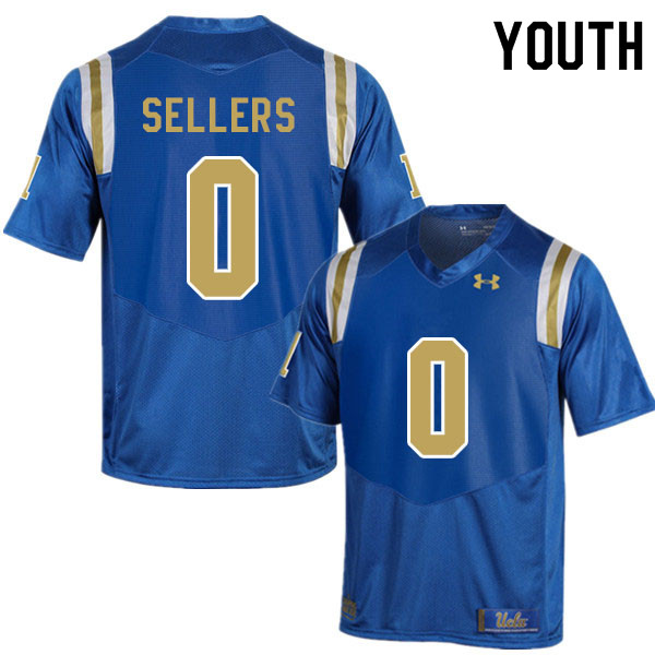 Youth #0 Damian Sellers UCLA Bruins College Football Jerseys Sale-Blue