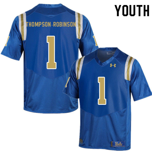 Youth #1 Dorian Thompson-Robinson UCLA Bruins College Football Jerseys Sale-Blue