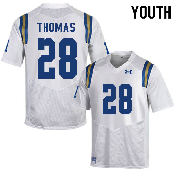 Youth #28 Evan Thomas UCLA Bruins College Football Jerseys Sale-White
