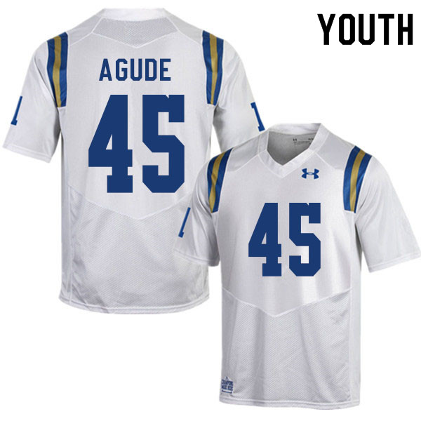 Youth #45 Mitchell Agude UCLA Bruins College Football Jerseys Sale-White