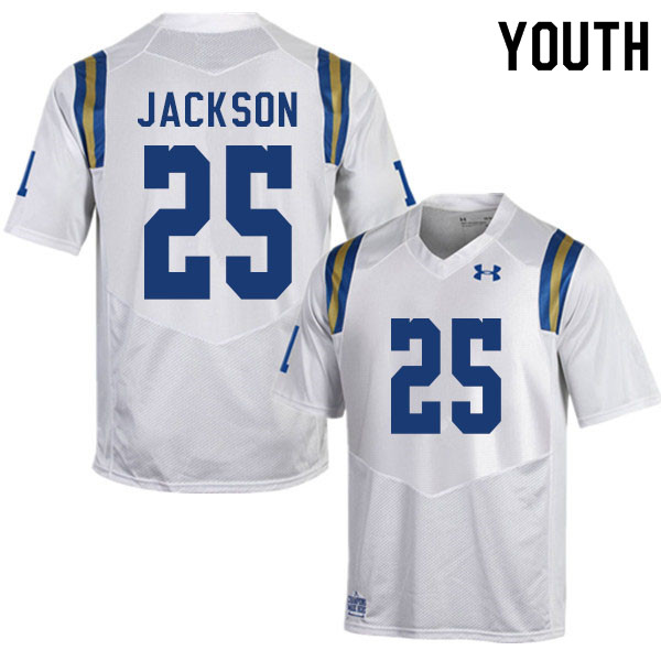 Youth #25 Myles Jackson UCLA Bruins College Football Jerseys Sale-White