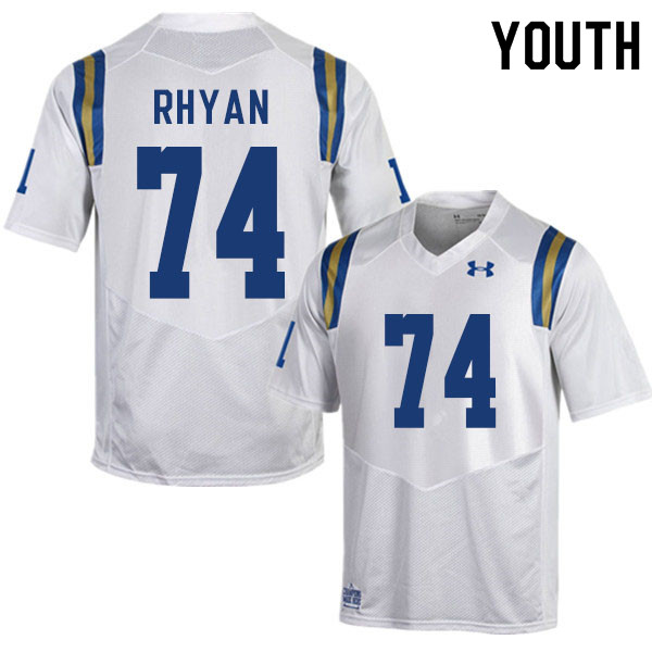 Youth #74 Sean Rhyan UCLA Bruins College Football Jerseys Sale-White
