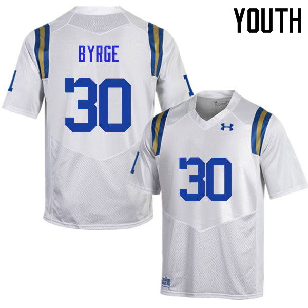 Youth #30 Zachary Byrge UCLA Bruins Under Armour College Football Jerseys Sale-White