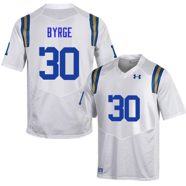 Men #30 Zachary Byrge UCLA Bruins Under Armour College Football Jerseys Sale-White